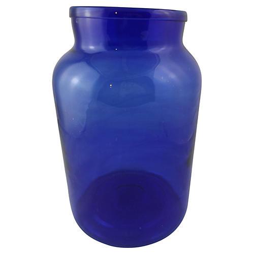 Blue Belgian Vase