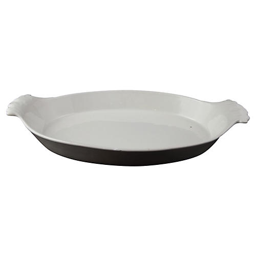 French White China Baking Dish