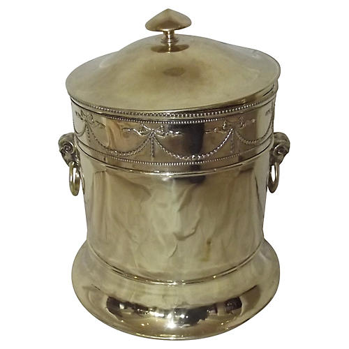 Polished Brass Fireplace Bucket