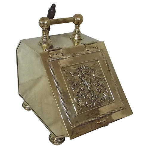 Polished Brass Coal Scuttle