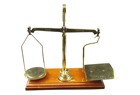 English Postal Scale w/ Weights