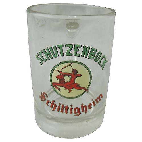 Schutzenbock Enameled Beer Mug