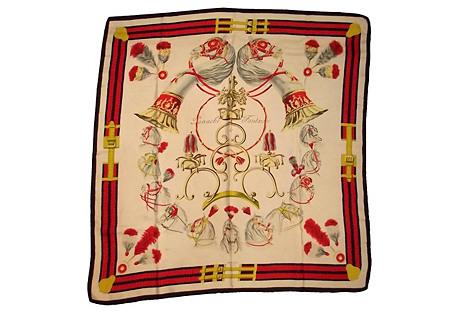 Hermès Panache & Fantaisie Silk Scarf