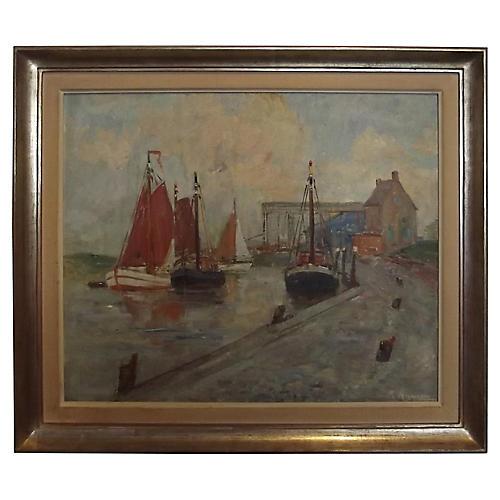 Karel Heymans Port Scene