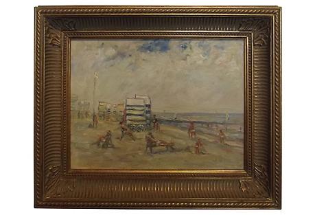 Beach Scene by W. Wysocki