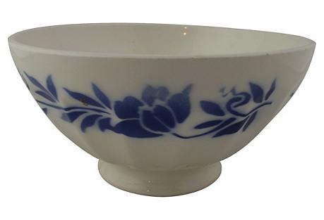 Blue Stenciled Cafe Au Lait Bowl