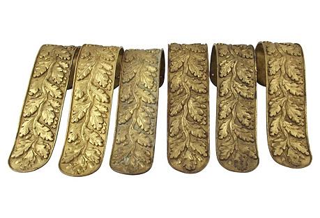 Louis XVI-Style Curtain Tie Backs, S/6