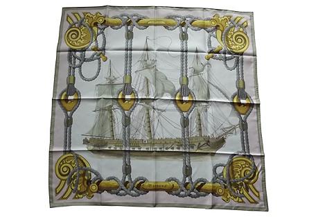 Hermès Tribord Scarf