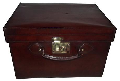 English Gentleman's Leather Hat Box