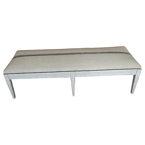 18th-C. Gustavian Bench
