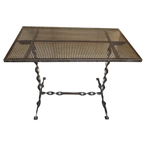 French Steel Bistro Table