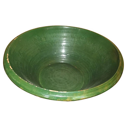 Very Large French Pottery Bowl
