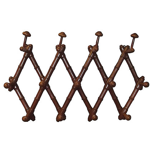 French Faux-Bamboo Coat Rack