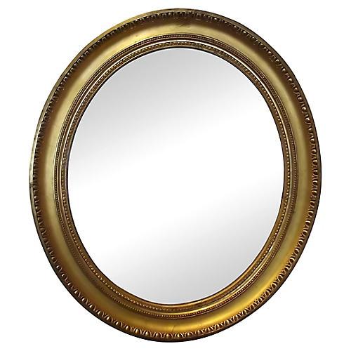 Louis XVI-Style Oval Mirror