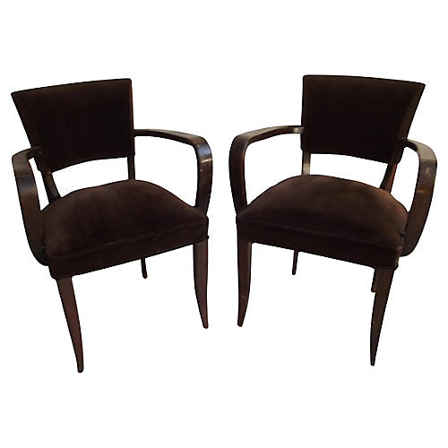 French Bridge Accent Chairs, S/2