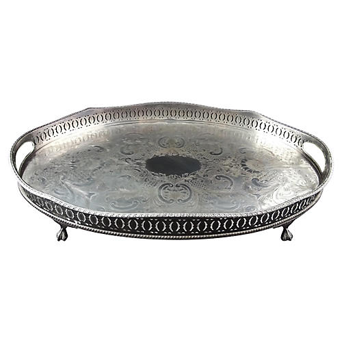 Sheffield Silver Plate Serving Tray