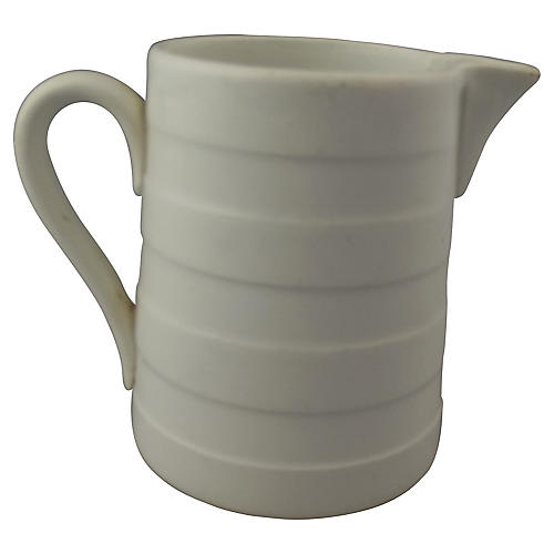1/4 L Banded Belgian Ironstone Pitcher