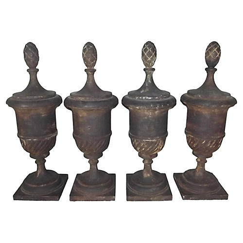 Cast Iron Architectural Finials, S/4