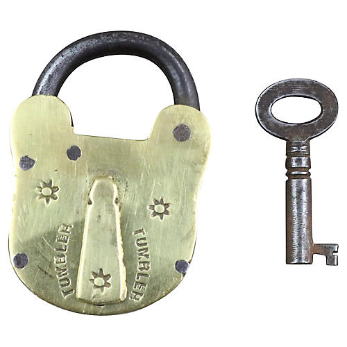 English Brass Padlock