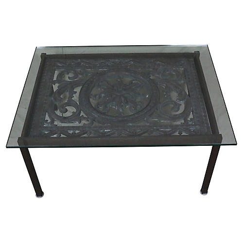 French Cast Iron Coffee Table