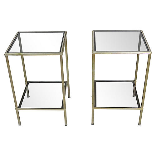 French Brass Side Tables