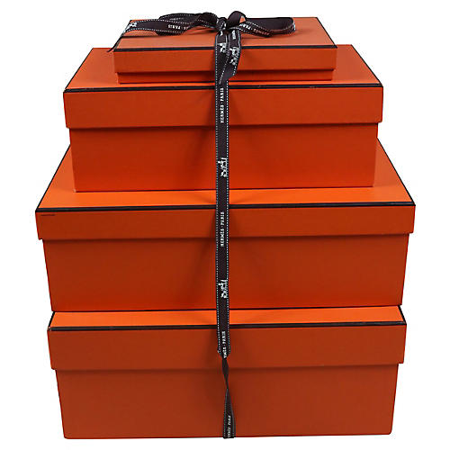 Stack of Four Hermes Boxes