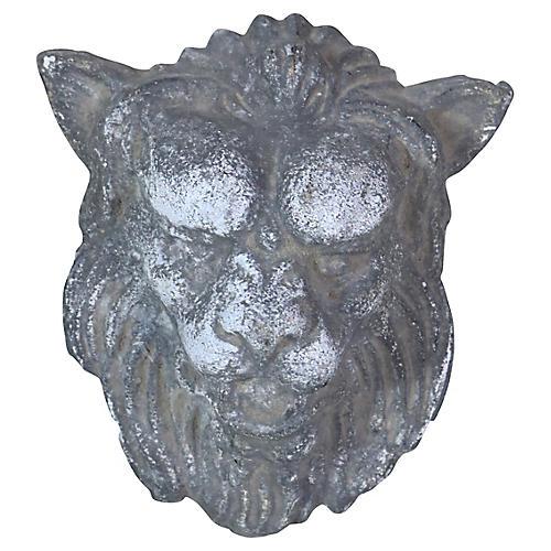 French Zinc Lion's Heads