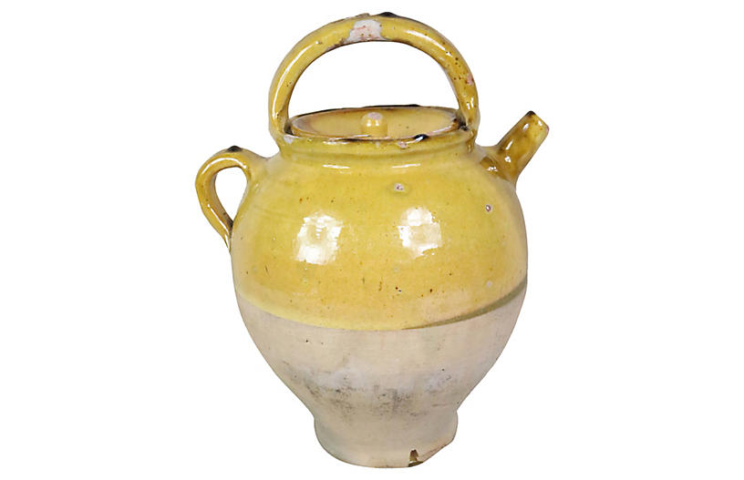 French Pottery Water Jug