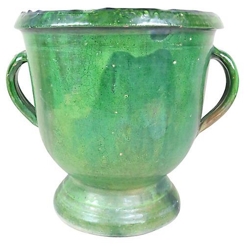 French Green Vase