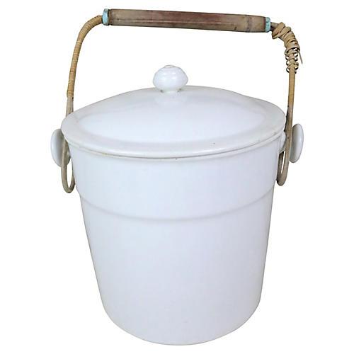 French Porcelain Lidded Bucket
