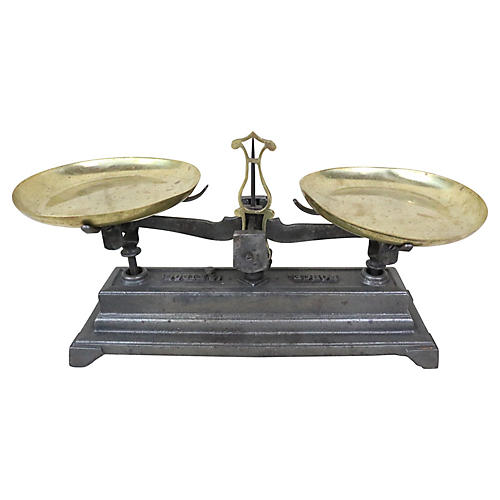 French Cast Iron Balance Scale