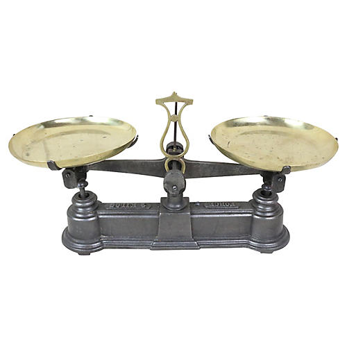 French Cast Iron Balance Scale