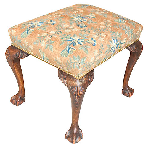 English Chippendale-Style Footstool