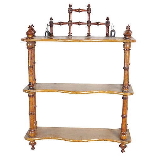 French Faux-Bamboo Shelf