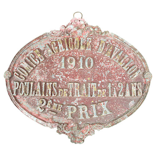 French Horseshow Prize from 1910