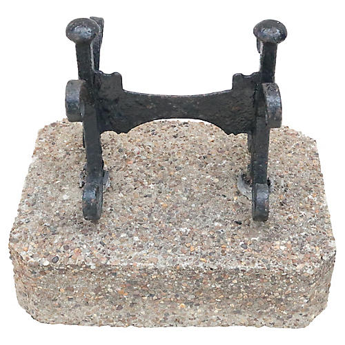 English Wrought Iron Boot Scraper
