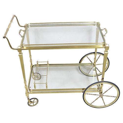 French Mid Century Serving Cart