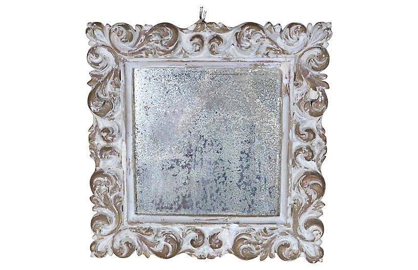 Louis XVI-Style Plaster Framed Mirror
