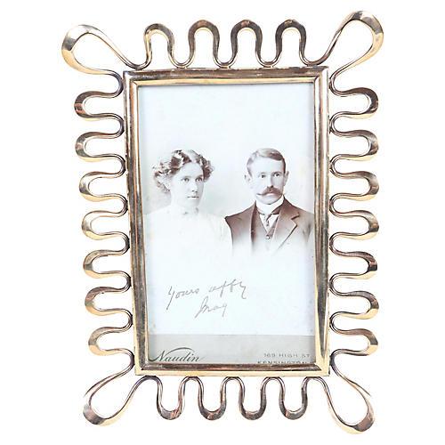 English Victorian Chain Photo Frame