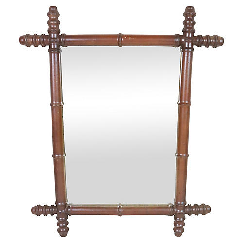 19th Century French Faux Bamboo Mirror