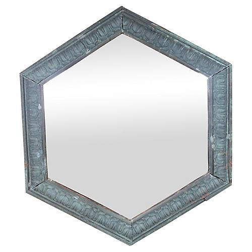 19th Century French Copper Mirror
