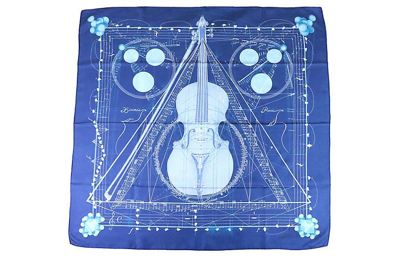 Music des Spheres vintage Hermes Scarf
