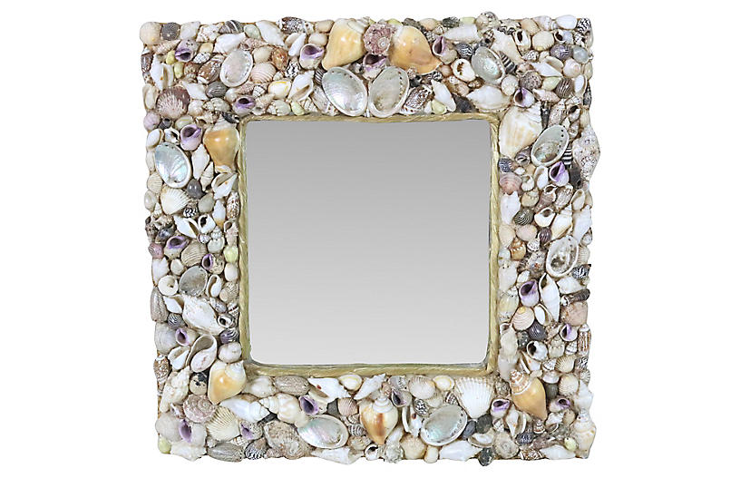 English Shell Mirror
