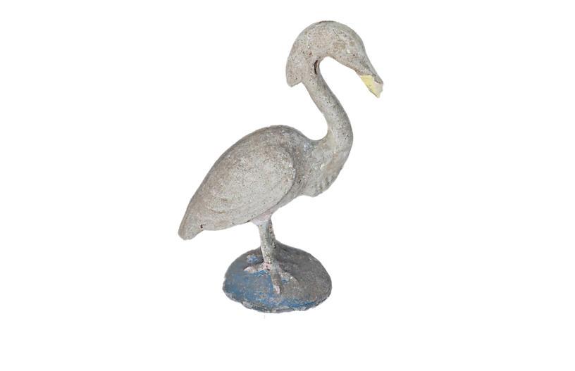 French Cast Stone Garden Egret