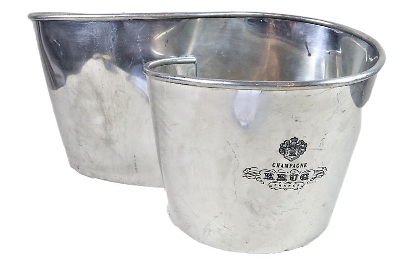Rare Champagne Krug Double Ice Bucket