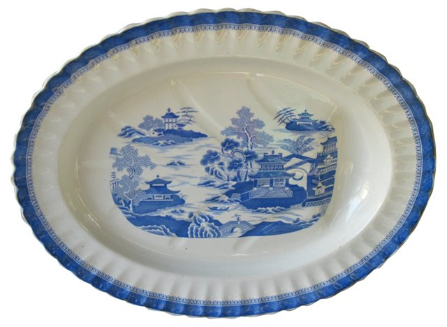 Copeland Blue & White Meat Platter
