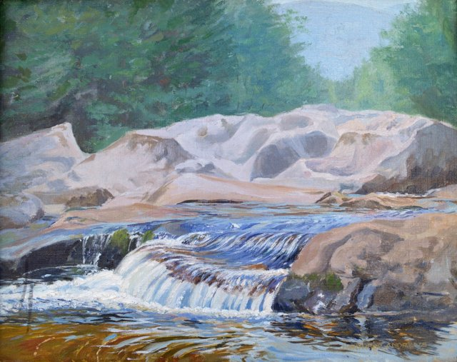Waterfall by J. Winthrop Andrews