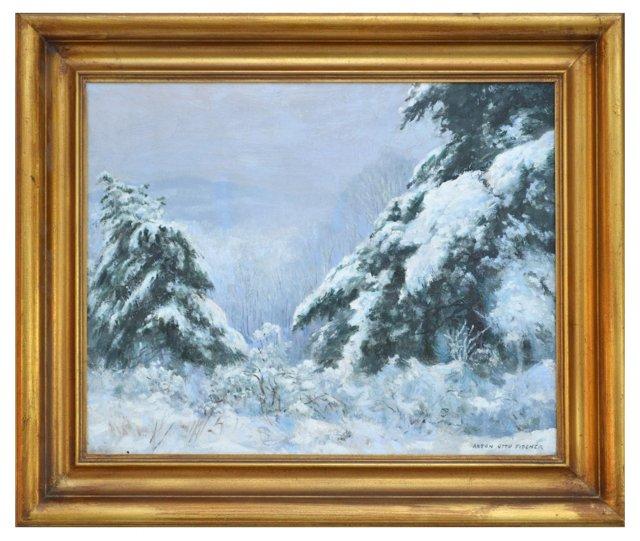 Snow Scene by A.O. Fischer