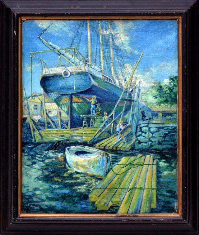 Nautical Scene by Edwin F. Murdock