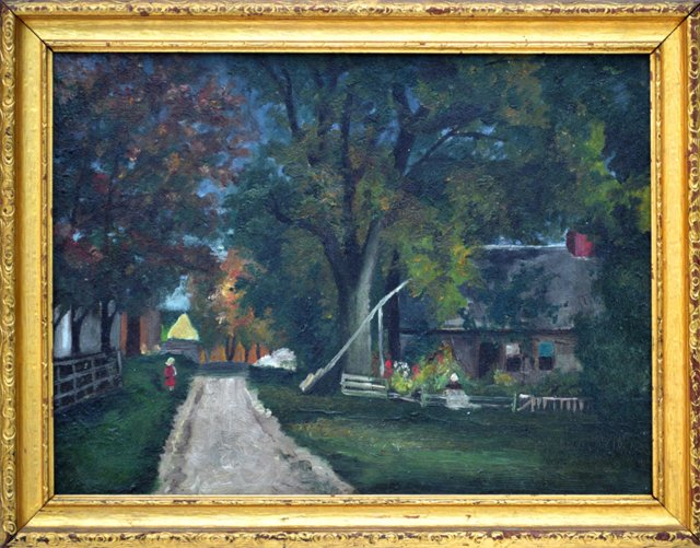 Boston Area Village Scene, C. 1900